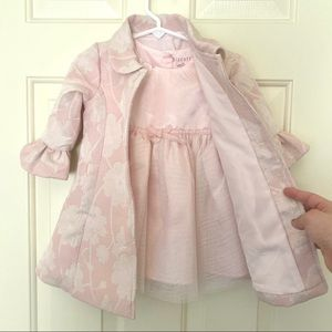 Biscotti Pink Floral Baby Dress and Coat NWT